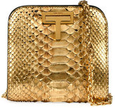 Tom Ford Cosmo Python Small T Lock Shoulder Bag, Gold