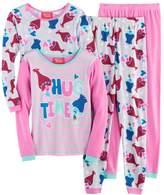 Dreamworks DreamWorks Trolls Poppy & Branch Girls 4-10 Tees & Bottoms Pajama Set