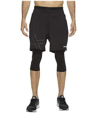 2XU X-CTRL 7 Shorts w/ Compression (Black/Black) Men's Shorts