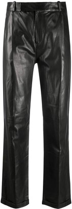 Arma High-Waisted Leather Trousers