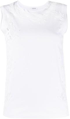 P.A.R.O.S.H. slim fit lace vest top