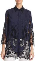 Elie Tahari Clark Embroidered Lace Blouse