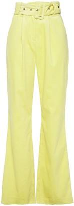 Hofmann Copenhagen Belted Cotton-blend Corduroy Flared Pants