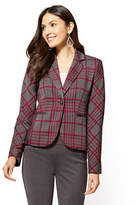 New York & Co. 7th Avenue - One-Button Jacket - Red & Grey Plaid