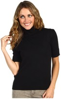 Juicy Couture S/S Turtleneck With Lace (Black) - Apparel