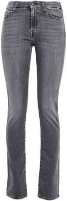 7 For All Mankind Kimmie Mid-rise Straight-leg Jeans