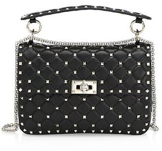 Valentino Medium Rockstud Spike Leather Shoulder Bag