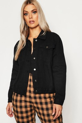 boohoo Plus Slim Fit Western jean jacket