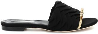 Marco De Vincenzo Leather-trimmed slides