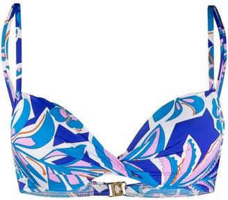 Emilio Pucci printed bikini top