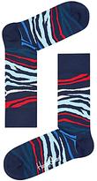 Happy Socks Multi Zebra Socks, Blue