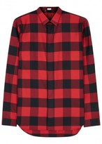 Dior Homme Red Checked Flannel Shirt