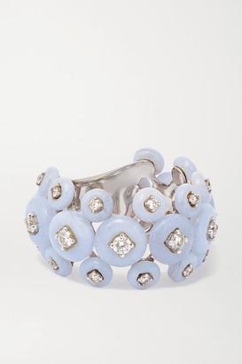 Fernando Jorge Surrounding Triple 18-karat White Gold, Diamond And Chalcedony Ring - 6