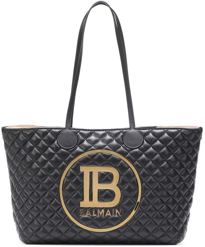 8b3452de66 Logo quilted leather tote