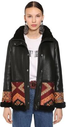 Etro Intarsia Deco Jacket W/ Shearling