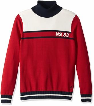 Nautica Men's Big Blocked Turtleneck Sweater