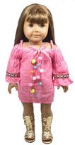 Sweet P Doll Studio Pink Doll Dress