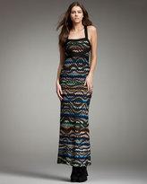 Zigzag Cross-Back Maxi Dress