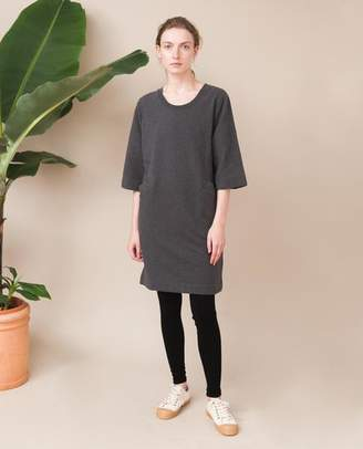 Beaumont Organic Dark Grey Haven Organic Cotton Dress - Dark Grey / Medium - Grey