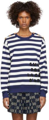 Gucci Navy and White Pour La Cote DAzur Sweatshirt