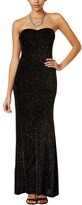 Thumbnail for your product : Jump Women's Strapless Glitter Slinky Long Prom Dress