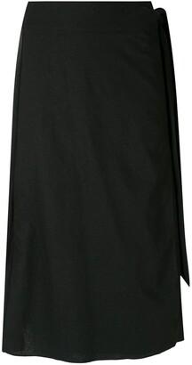 ESC Linen wrap skirt