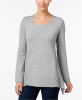 Style&Co. Style & Co Petite Pointelle-Detail Sweater, Only at Macy's