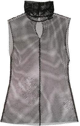 8pm Fitted Fishnet Top