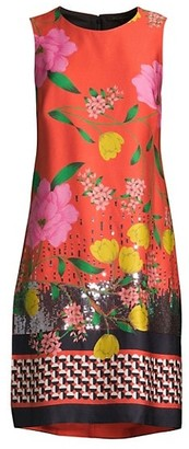 Kobi Halperin Bonnie Sequin Floral Shift Dress