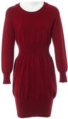 Chanel Red Wool Dresses