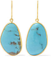 Pippa Small 18-karat Gold Turquoise Earrings