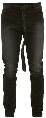 Fear Of God Drawstring Cotton-canvas Trousers - Black