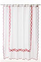 Matouk Gianna Shower Curtain - Shocking Pink white/shocking pink