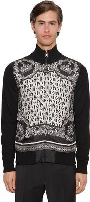 Dolce & Gabbana ZIP-UP CASHMERE & SILK CARDIGAN