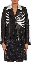 AMIRI Women's Studded Skeleton-Painted-Leather Moto Jacket