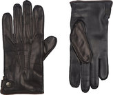 Barneys New York Men's Snap-Wrist Gloves-BLACK