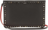 Christian Louboutin Loubi stud-embellished leather clutch