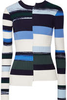 Opening Ceremony Striped Stretch-knit Sweater - Blue