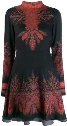 Etro long-sleeve embroidered dress
