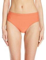 Athena Women's Cabana Solids Mid Waist Bikini Bottom