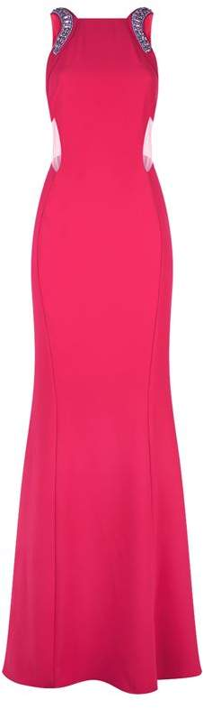 Pinko Crystal-Embellished Gown