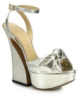 Silver Metallic Chunky Heel Women's Sandals - ShopStyle