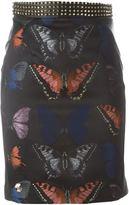 Philipp Plein butterfly print pencil skirt