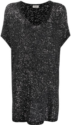 Saint Laurent Sequinned Shift Dress