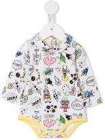 Fendi Monster space print body - kids - Cotton/Spandex/Elastane - 6 mth