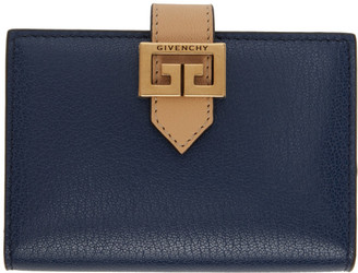 Givenchy Blue and Beige GV3 Card Holder