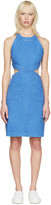 Stella McCartney Blue Denim Cut-Out Dress