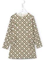 Nice Things 'Diamond Print' dress - kids - Viscose/Rayon - 4 yrs