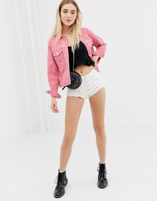 Glamorous denim shorts-White