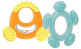 Nuby Softees Hard and Soft Teether Set - Neutral (2 pack)